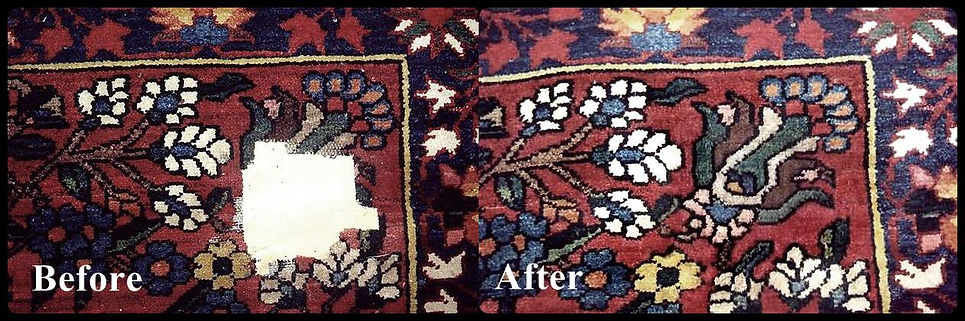 hole repairs in oriental rugs