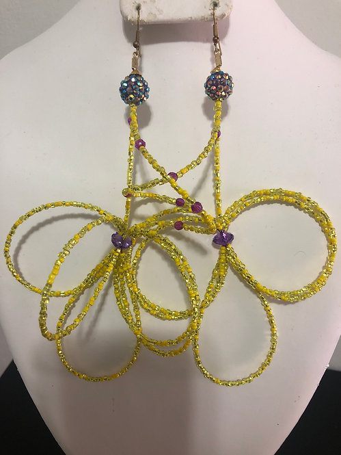 Small beaded earrings