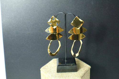 Stainless steel drop earring