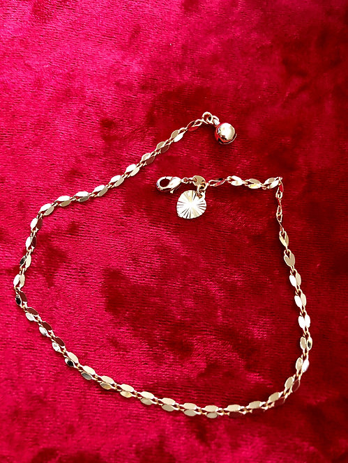 Gold filled  foot chain