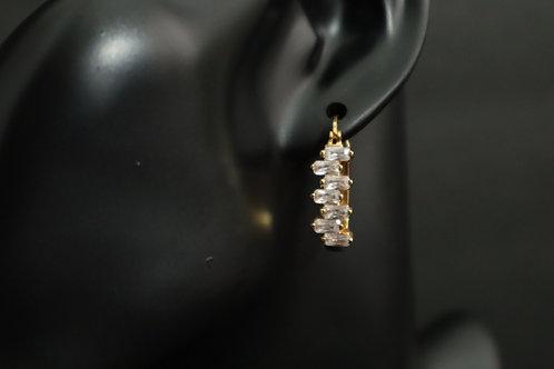 gold-filled  rhinestone earring
