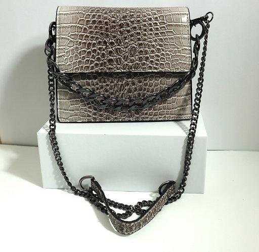 faux croc leather bag