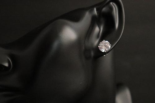 faux diamond silver earring