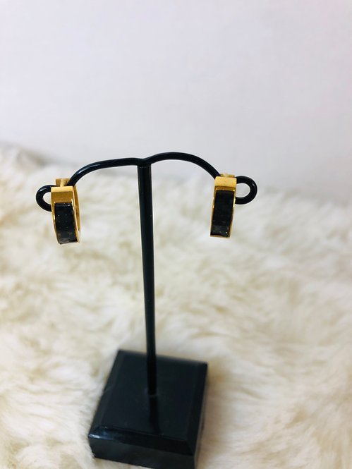 Stainless steel gold earrings