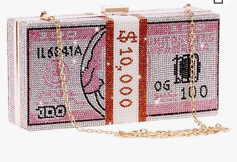 Rhinestones money clutch