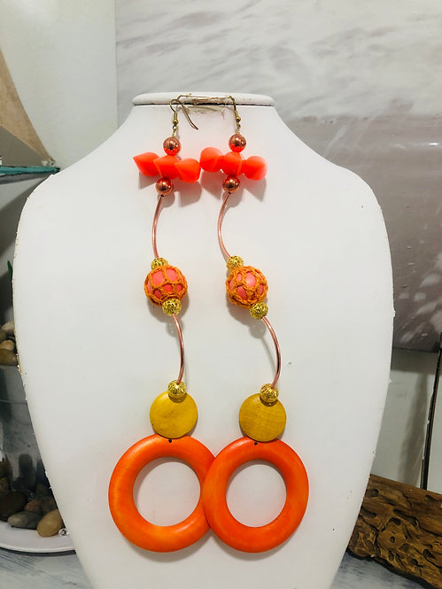 Multi orange earrings