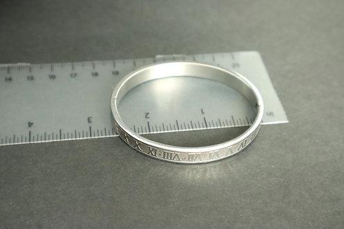 silver number bracelet