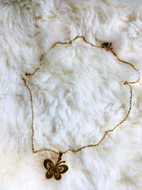 Stainless steel necklace with pendant