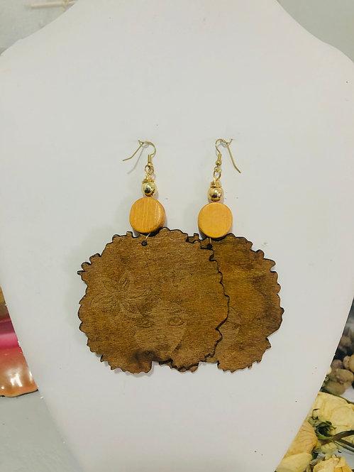 Afro earrings