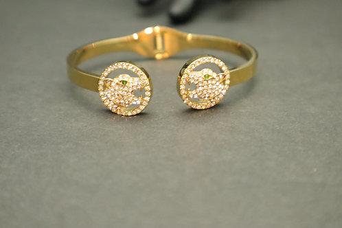 rhinestone head gold bracelet