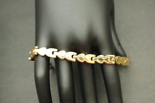 gold link stainless steel bracelet