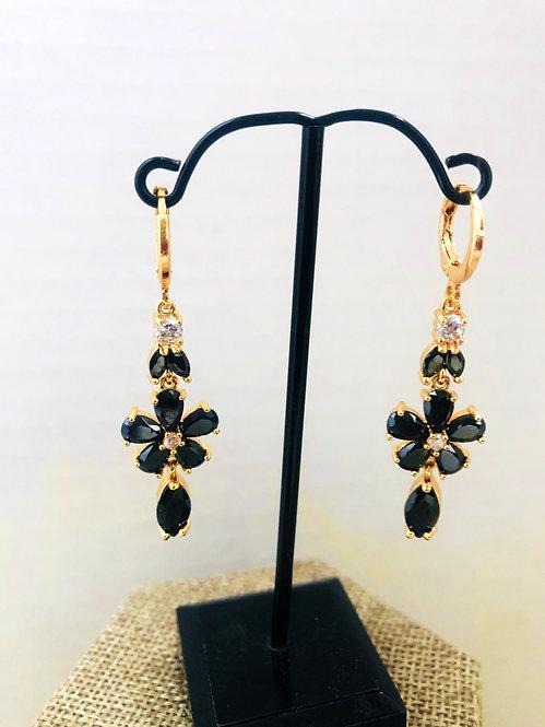 Gold filled drop earrings