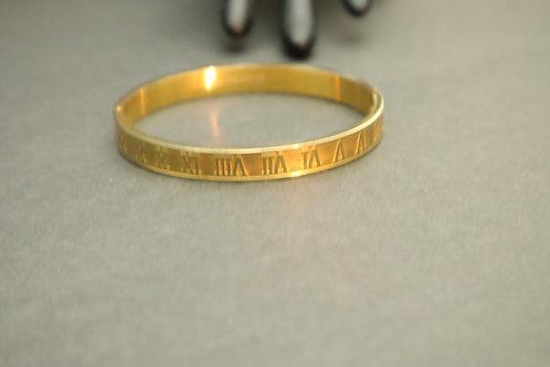 gold number bracelet