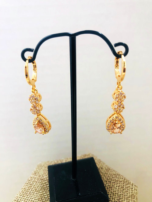 Gold filled drop earrings