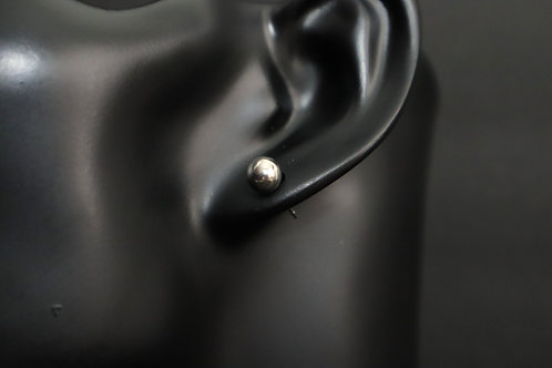small silver stud earring