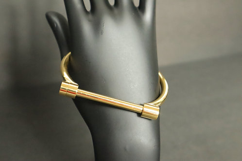 stainless steel gold bar bracelet