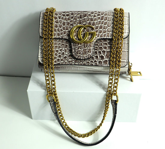 black and gold cross body bag
