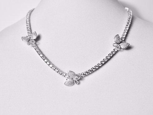 Rhinestone Charm Necklace Set