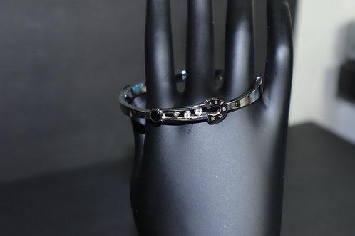 silver pin bracelet
