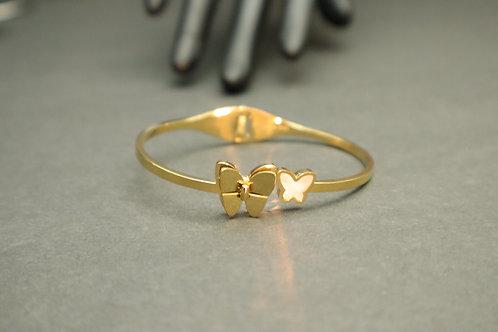 double butterfly bracelet
