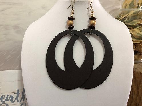 Large brown earrings