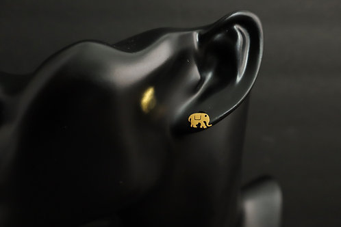 gold elephant earring