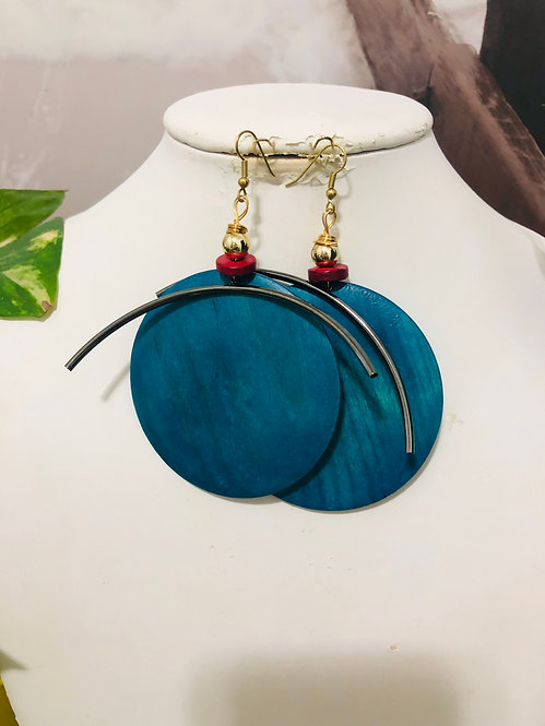 Funky blue earrings