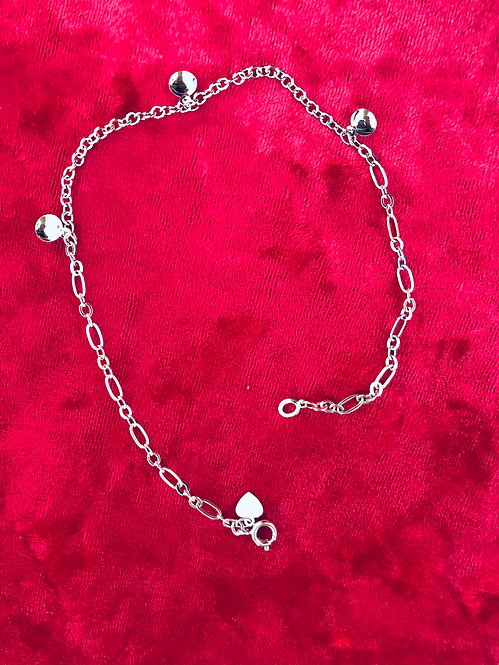 Silver filled foot chain