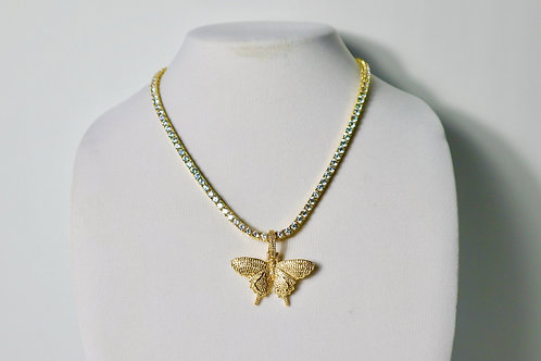 butterfly bling necklace