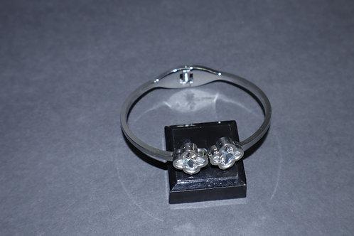 silver hinge bracelet