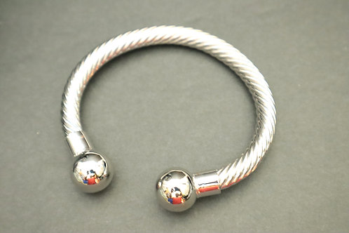 silver filled ball bracelet