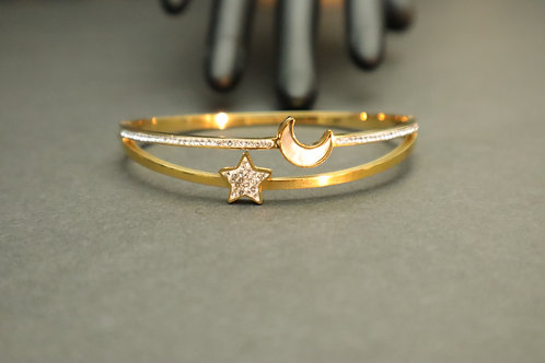 star and moon gold bracelet