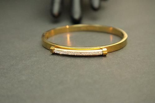 rhinestone bar gold bracelet