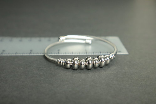 trendy silver bracelet