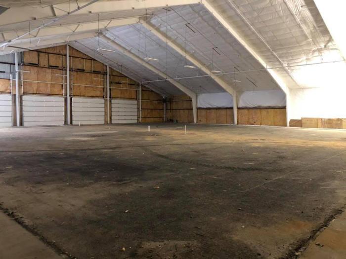 Blackthorn club indoor court under construction