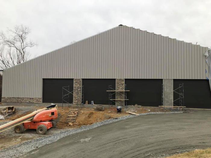 Blackthorn club facility exterior under construction