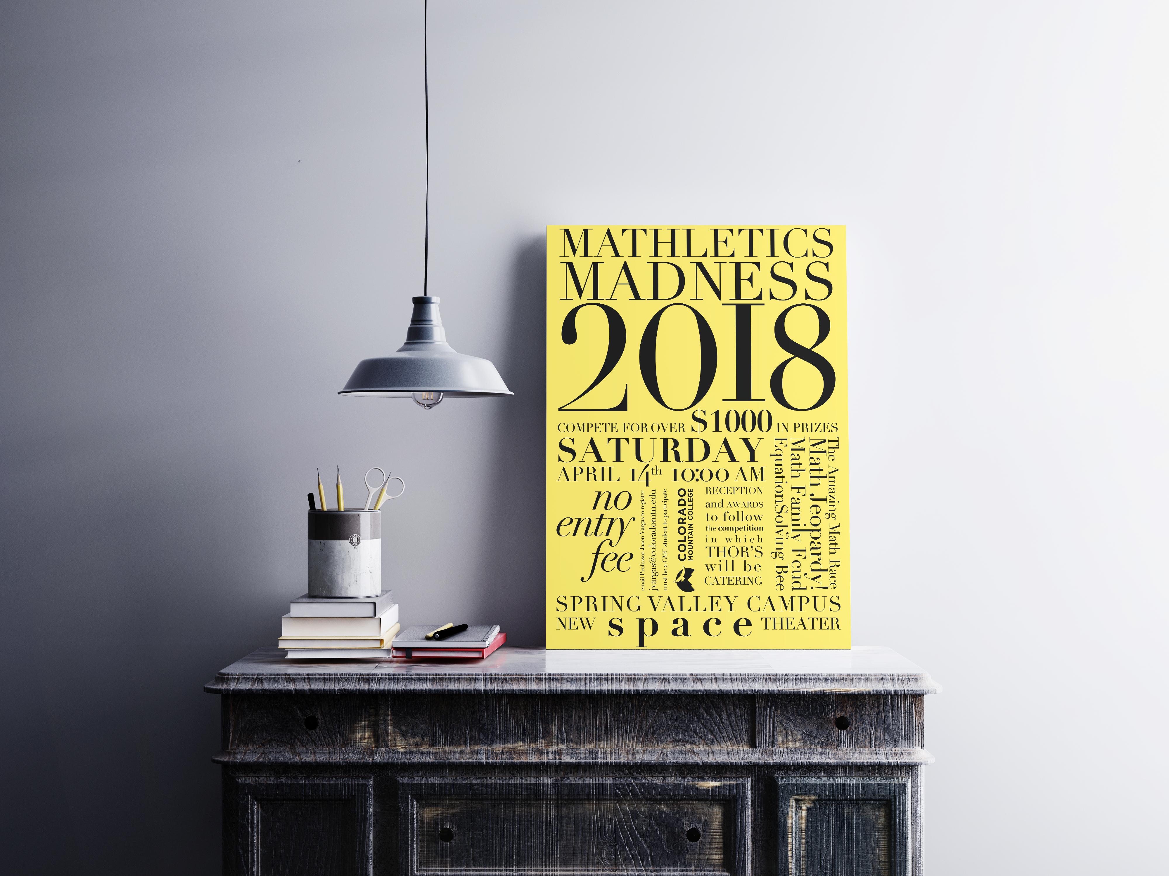 Mathelitcs Madness Poster