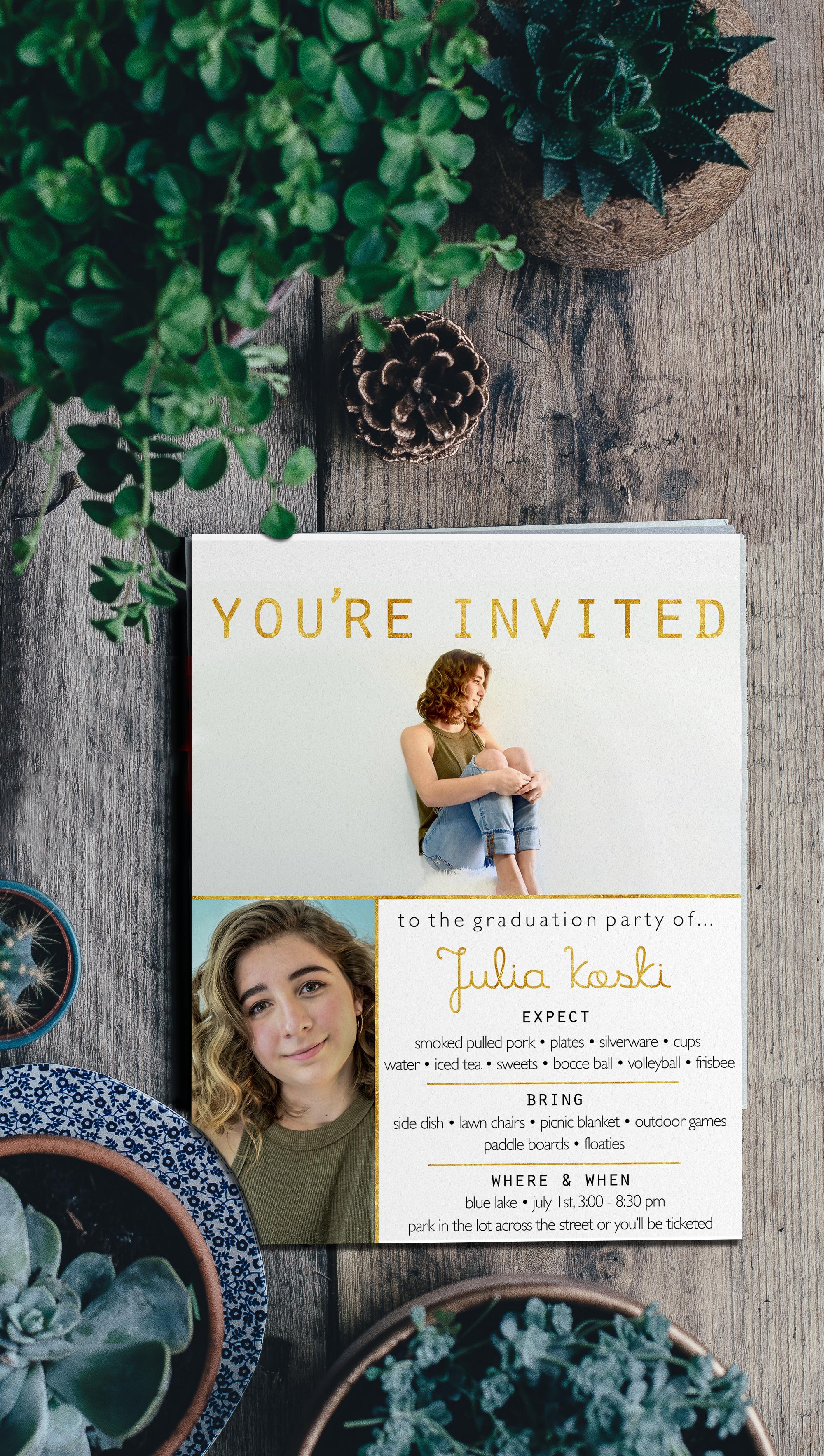 Julia's Graduation Invitation
