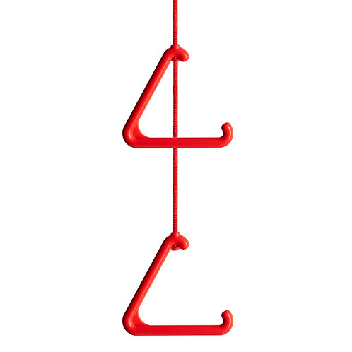 Ceiling/Toilet Alarm Pull Cord String with Antibacterial Protection, Red.