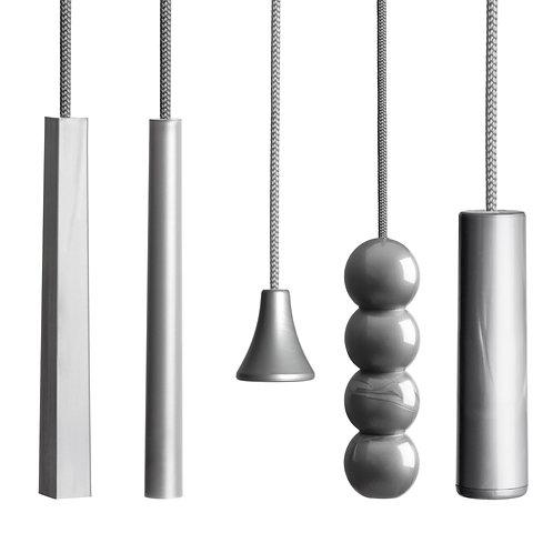 Contemporary 'Metallic Silver Edition' Cords and Handles.