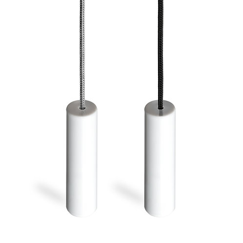 Ceiling Switch Pull Cord ,with Ice White Ergonomic Handle.Black and Silver Cord.