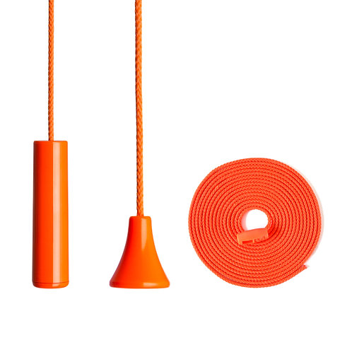 Ceiling/Toilet Alarm Pull Cord String with Antibacterial Protection, Orange.