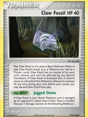 Trainer - Claw Fossil #91