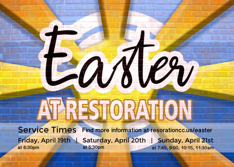 church easter graphics, church special event artwork, church graphic design, kavod media