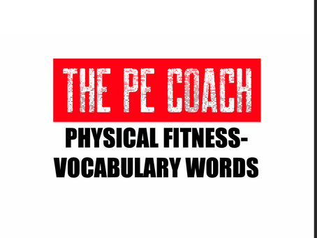 Fitness Vocabulary