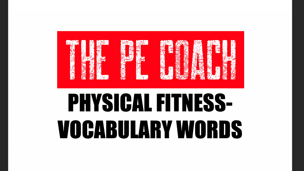 Physical Fitness Vocabulary