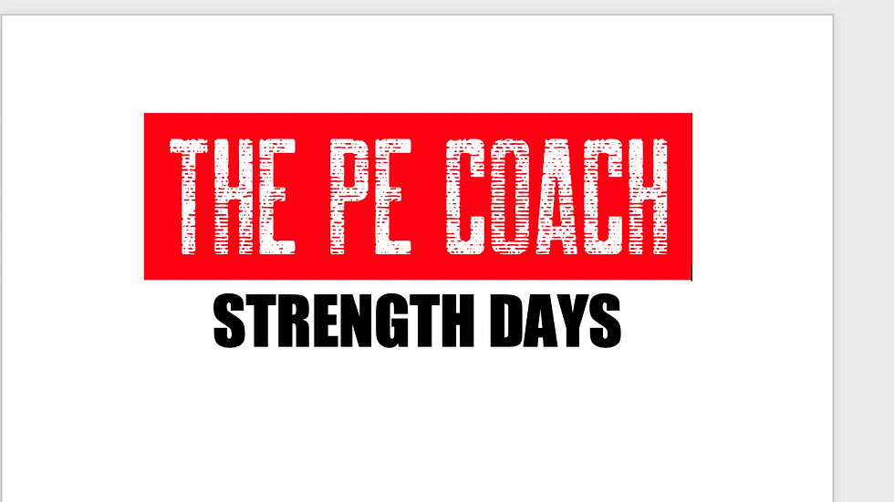 Strength Days- Personal Fitness
