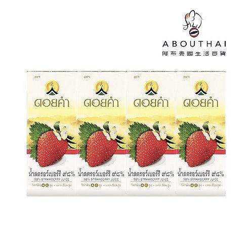 DOI KHAM 泰國皇家 98%草莓汁 200ml (4包裝)