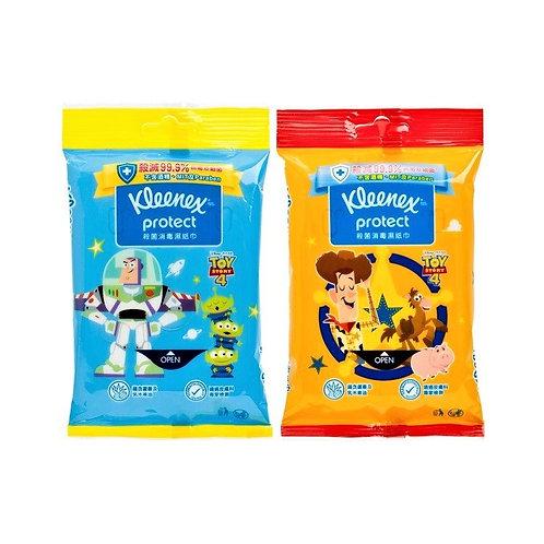 Kleenex健力氏 殺菌消毒濕紙巾10片 (反斗奇兵4 -隨機款式)