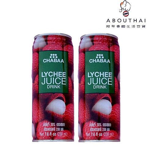 CHABAA 芭提婭荔枝汁飲品 230ml (2罐裝)